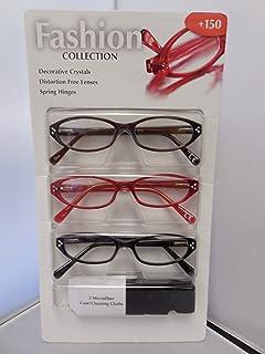 Design Optics 3pk Reading Glasses (1.50)