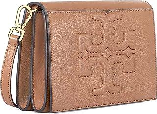 Tory Burch Bombe T Combo Leather Cross Body Bag Women's Leather Handbag (Bark)