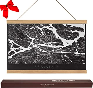 "Dacri Home 24"" Wide Magnetic Poster Hanger Frame - 24x36 24x18 24x32 Easy Hanging – Large Compatibility Hanger for Wall Art Picture Canvas Print Map (24"