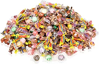 Assorted Candy Bulk Party Mix, Hard Candy individually Wrapped Bulk Candy! 5 Pounds of Peppermint Candy, Cinnamon Candy, Butterscotch Hard Candy, Chocolate Candy, Strawberry Candy, Ginger Candy…