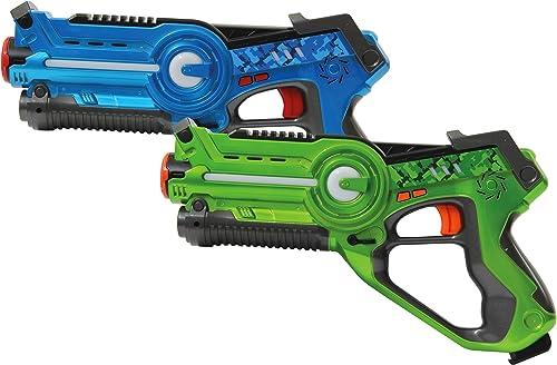 garantizado Jamara 410036 Pistola de Juguete Arma de de de Juguete - Armas de Juguete (Pistola de Juguete, 8 año(s), azul, verde, 1,5 V, AA, 28 cm)  Con 100% de calidad y servicio de% 100.