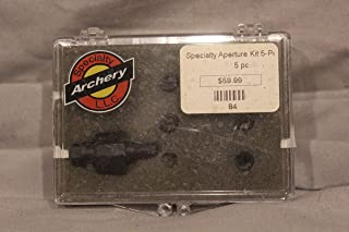 Specialty Archery Aperture Kit Five Pack 1/32, 3/64, 3/32, 1/16, 1/8