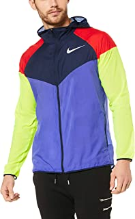Nike Men's Colorblocked Water-Repellent Windrunner Jacket, Persian Violet/Obsidian
