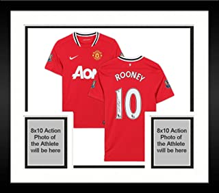 Framed Wayne Rooney Manchester United Autographed 2011-12 Jersey - JSA Certified - Autographed Soccer Jerseys