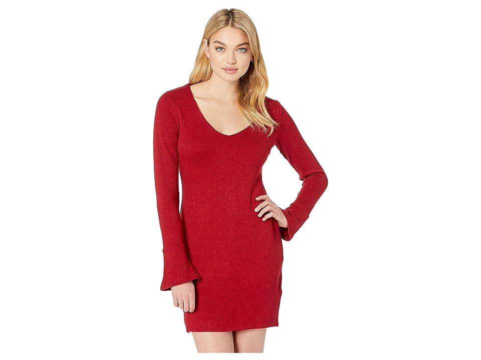 MINKPINK Sweetness Knit Dress (Wine) Women
