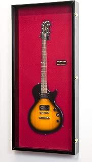 "sfDisplay.com,LLC. Electric Bass Fender Guitar Display Case Cabinet Wall Rack Holder 98% UV Lockable 50x22"""