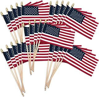 Super Tough USA Stick Flag with Spear Tip, 4 by 6-Inch, 25-Pack
