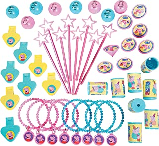 Fun Express - Peppa Pig Mega Favor Pack (48pc) for Birthday - Party Supplies - Licensed Tableware - Misc Licensed Tableware - Birthday - 48 Pieces