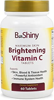 Vitamin C Complex 1000 mg Tablets for Skin Lightening Brightening Antioxidant with Rose Hips and Bioflavinoids Immune Supp...