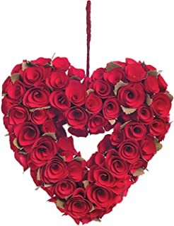 Red Rose Heart Wreath - Wreaths and Floral Decorations