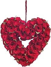 Best red heart wreath Reviews