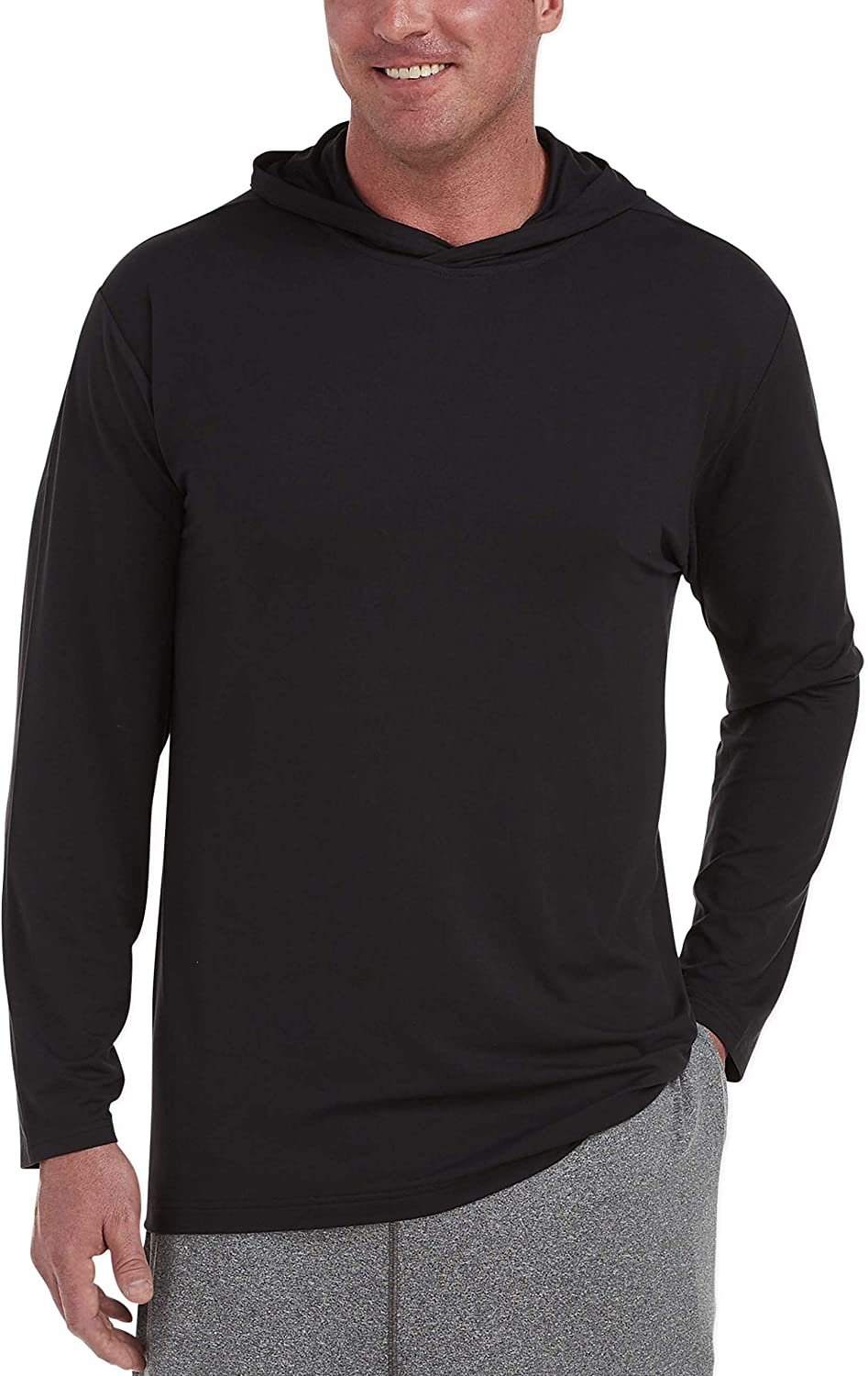Amazon Essentials Men's Big & Tall Tech Stretch Long-Sleeve Pullover Hoodie fit by DXL