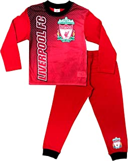 Mens Liverpool Football Club Long Pyjamas Premier League PJs LFC Pyjama PJ Red