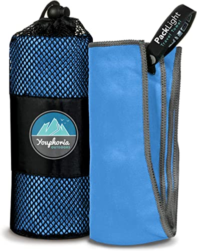 Youphoria Microfiber Travel Towel Sports Towel - Ideal Quick Dry Towel Travel, Camping, Beach, Backpacking, Gym, Spor...