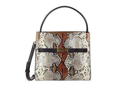 Tory Burch Lee Radziwill Exotic Small Double Bag (Aspen Multi) Handbags