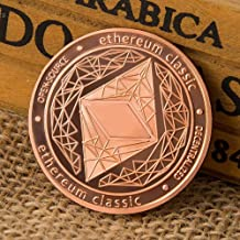 Peyan 10pcs Ethereum (ETH) Coin,Line Embossed 3D Print,Commemorative Coin Celebrate Building Smart Contracts and DApps,Novelty Coin Souvenir Coins,Rose Gold