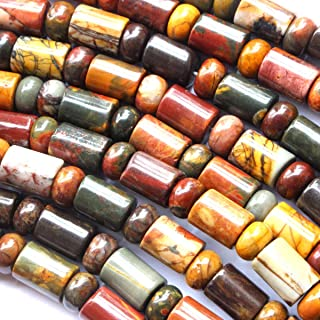 Tacool Natural Color Genuine Picasso Jasper rondelle 36mm Barrel 58mm Gemstone Jewelry Making Loose Beads