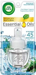 Air Wick plug in Scented Oil 12 Refills, Fresh Waters, (6x2x0.67oz), Essential Oils, Air Freshener