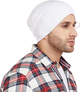 Vimal Jonney White Blended Beanie Beanie Cap For Men-RING_CAP_WHT_01