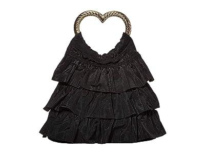 Loeffler Randall Izzie Heart Handle Tote (Black) Handbags