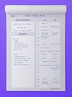 Daily Timeblock Planner A5 - Undated, Productivity, to-Do List, TimeBoxing, Time Management, Notepad, Diary
