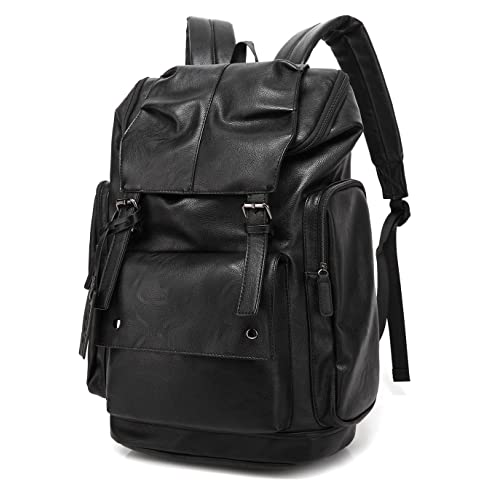 BAOSHA BP-16 PU Leather Casual Backpack College Backpack Daypack Black bbe51a701fc67