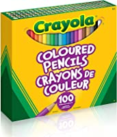 Crayola 67-6100 Coloured Pencils, 100 Count Pencil Crayons, Vibrant colours, Pre-sharpened, Art Tools, Adult Colouring,...