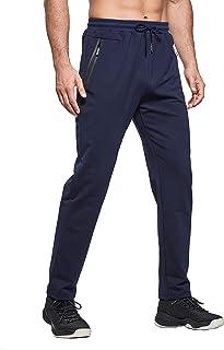 ZOXOZ Mens Tracksuit Slim Fit Bottoms Joggers Elasticated Waist Zip Pockets