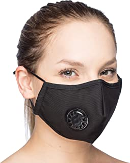 Debrief Me Dust Mask – Anti Pollution Breathable Respirator Mask (1 Mask + 6 Filters) Military Grade N99 Flu Mask Carbon Activated Filtration - Reusable Washable - Comfy Cotton Adjustable(Black)
