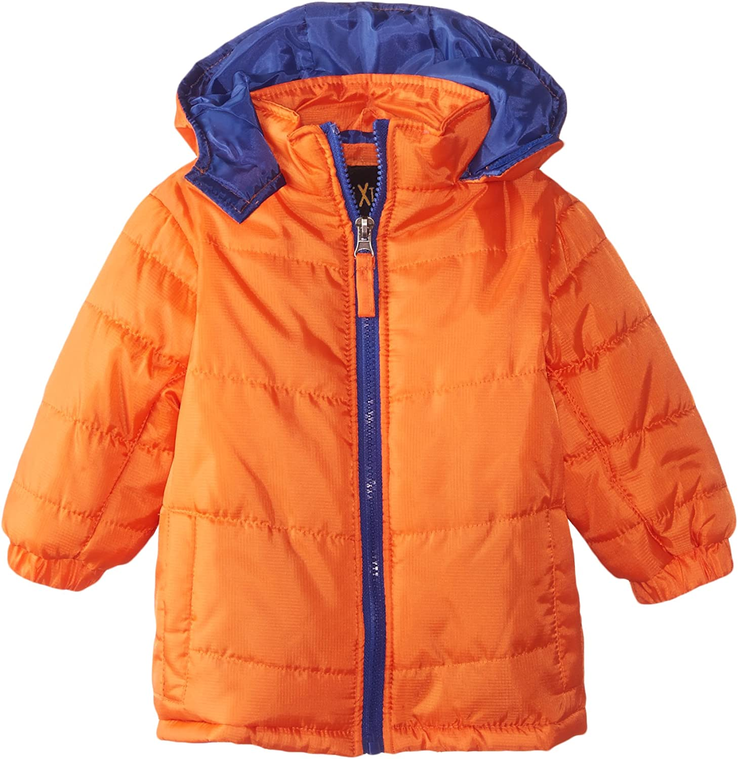 iXtreme Baby Boys' Ripstop Puffer With Pop Color Zipper