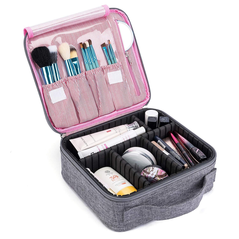 CoolBELL化粧品袋旅行化粧品収納ボックス化粧品収納ボックス化粧品調整可能なセパレーションボックス化粧ブラシジュエリー化粧ブラシデジタルアクセサリー