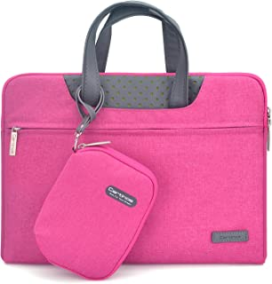 Cartinoe Women Briefcase 13.3 inch Laptop Carrying Bag, Water Resistant Handbags Tablet Carrying Case for MacBook Pro 13 Retina, iPad Pro, Dell ASUS HP Acer Chromebook 13, Pink