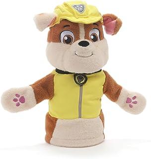 """GUND Paw Patrol Rubble Hand Puppet Plush Stuffed Animal Dog, Yellow, 11"""""""