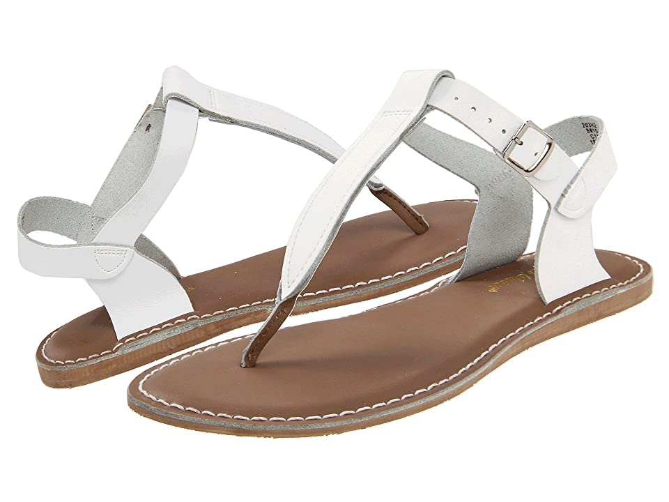 Salt Water Sandal by Hoy Shoes Sun-San T-Thongs (Big Kid/Adult) (White) Girls Shoes