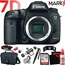 Canon EOS 7D Mark II DSLR Camera Body (International Model) with Extra Accessory Bundle