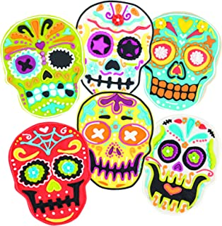 Tovolo Sugar Skull Templates Reverse, Dishwasher Safe, Set of 6 Cookie Stamps with Cutter