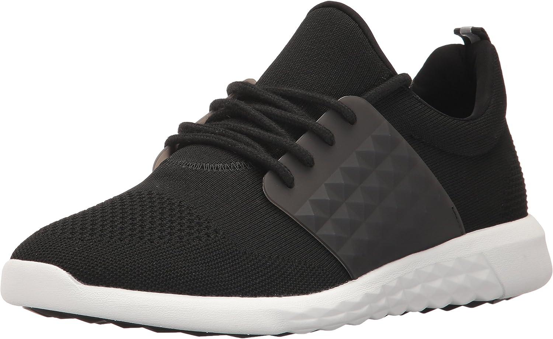 ALDO Men's Mx.0 Fashion Sneaker, Black Leather, 7.5 D US