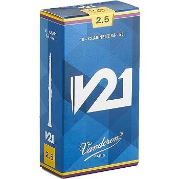 Vandoren V21 - Caja de 10 cãnas para clarinete, fuerza 2.5: Amazon.es: Instrumentos musicales