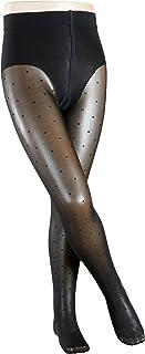 FALKE Strumpfhose Romantic Dot weiches Material Kinder schwarz weiß viele weitere Farben verstärkte Kinderstrumpfhose mit Muster nicht blickdicht einfarbig und dünn mit Punkte 1 Stück