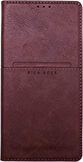 Rich Boss Flip Cover For Huawei y7 2019 - Brown