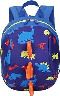 حقائب ظهر للكتب على شكل ديناصور للأطفال الصغار مع زمام أمان للأولاد والبنات