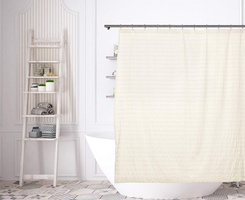 Kensie Aaliyah Seersucker Shower Curtain 70x72 White Home Kitchen
