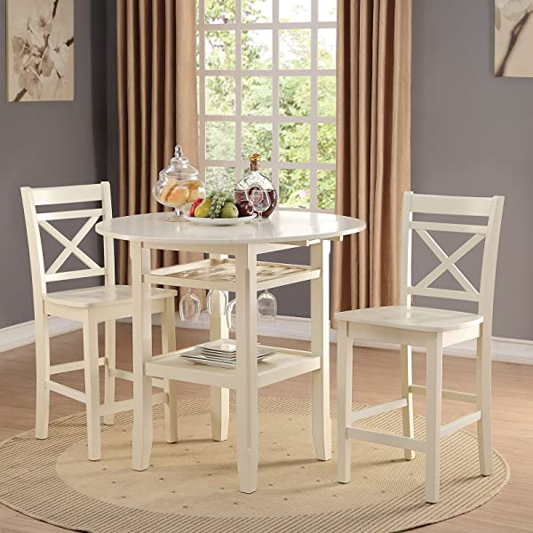 Acme Furniture 72547 Tartys Counter Height Chair Set Of 2 Cream