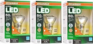 Sylvania Ultra LED Light Bulb dimmable 8W Replacing 50W Halogen PAR20 / Medium Base E26 / 3000K (Warm white-3PK)
