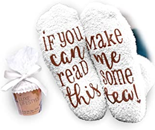 """""""If You Can Read This Bring Me Some Tea! """" - Funny Socks"""