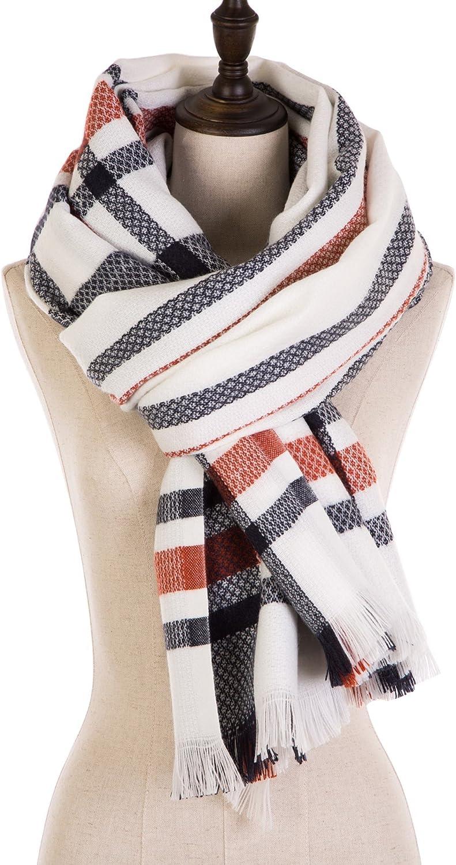 EUty Autumn Winter Soft Stripe Scarf