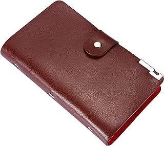 Business Card Holder, Travel Credit Card Holder Name Card Holder 90 Slots PU Leather ID Credit Card Holder Office Organizer (Brown)