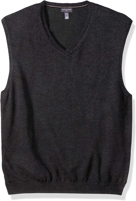 Jet Black Van Heusen Boys Big Stretch Herringbone Vest XL