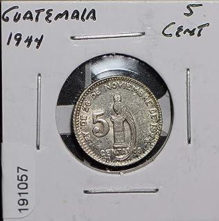1944 GT Guatemala 1944 5 Centavos 191057 DE PO-01