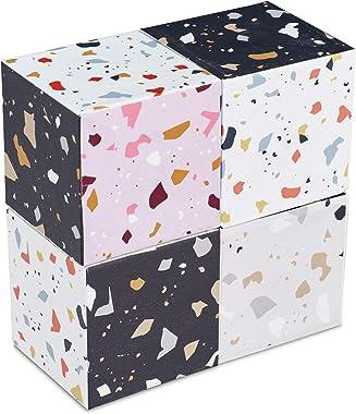 "Design Ideas Magnetic Puzzle Blocks – Terrazzo Patterned Cubes – Multicolored, 2"" x 2"" x 2"" (1 block)"